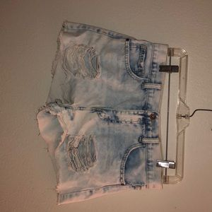 Forever 21 Light Wash Shorts